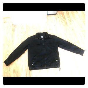 Black large blouson men's jacket